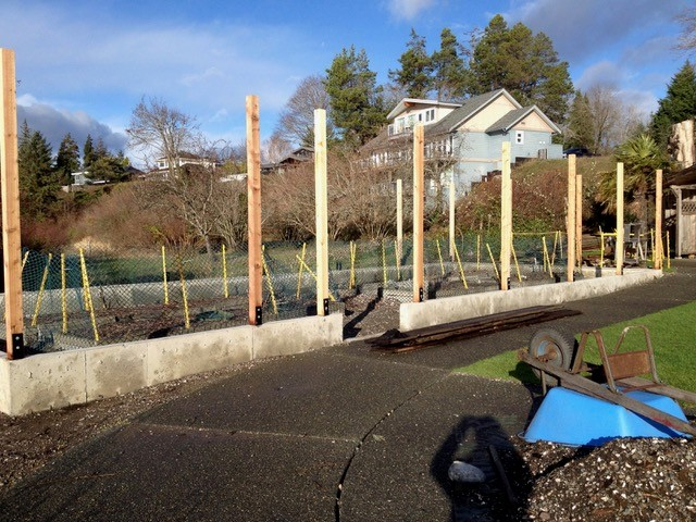 Filberg Park Cutting Garden improvements underway