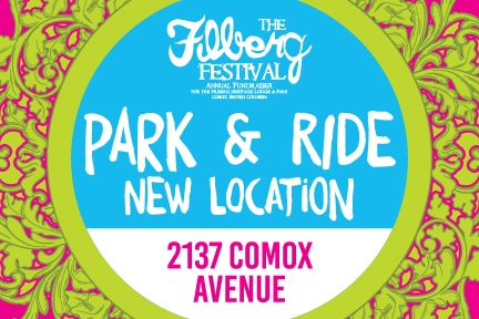 New location for the 2018 Filberg Festival Park & Ride