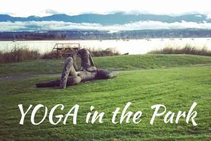 Outdoor Yoga in Filberg Park this summer…