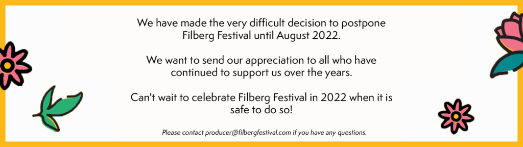 Filberg Festival Postponement
