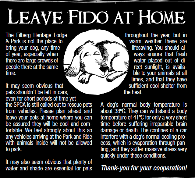 Please leave Fido at home